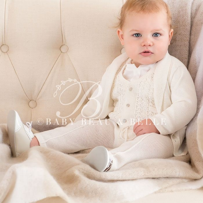 Baby Boy 5-Piece Set - Luca Christening/Baptism Collection - Fancy Gowns & Suits