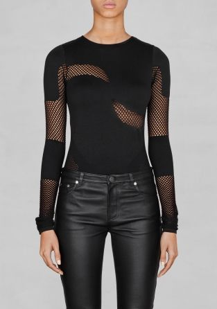 Mesh detail body by & Other Stories