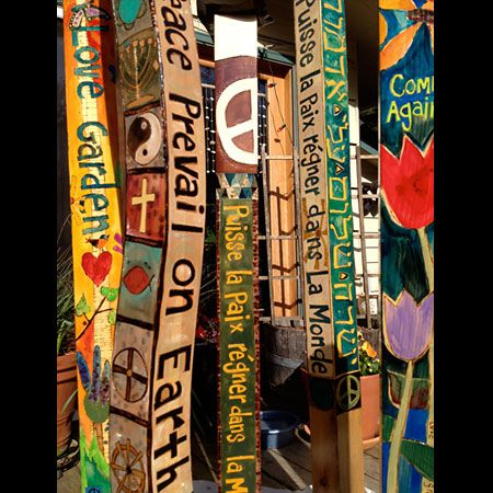 """How to make your own peace pole. """"Pray For World Peace"""" in many languages in this Free PDF."""