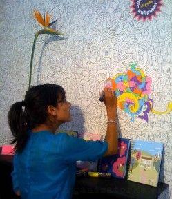 Tapeta na maľovanie - vyskúšaj tapetu a vyfarbi sa