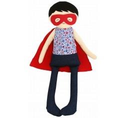 Sebastian Super Hero Doll Navy and Red