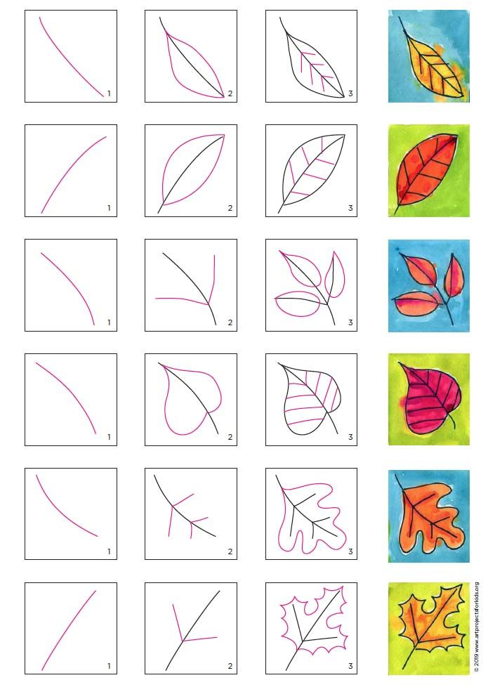 How To Draw Autumn Leaves : autumn, leaves, Leaves, Projects, Projects,, Autumn