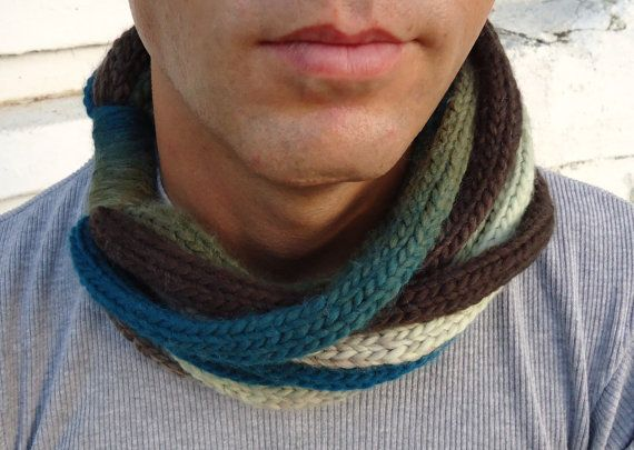Scarf in soft wheat Hand knitt warmer scarf by PopisBOUTIQUE