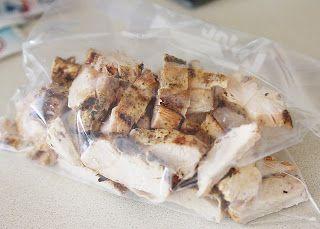 Do-It-Yourself Frozen Grilled Chicken Breast Strips -