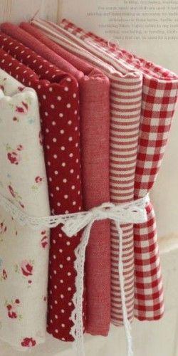 red & white fabric