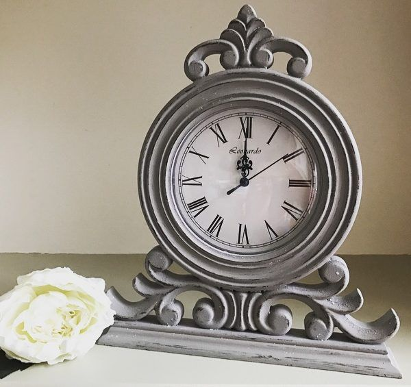 Ornate Antique Grey Mantel Clock – Little Love of Mine