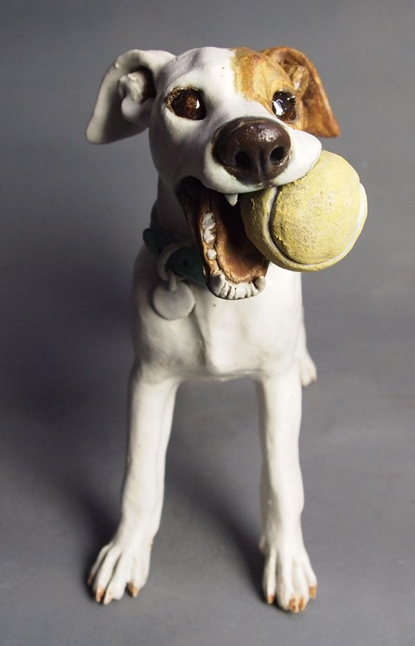 """Fetched It!"" #dogs #sculpture #funny"