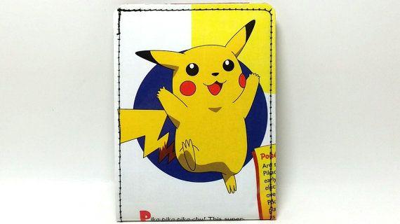 Sewn Pokemon Handbook Wallet  Pikachu by DuctTuff on Etsy, $14.00