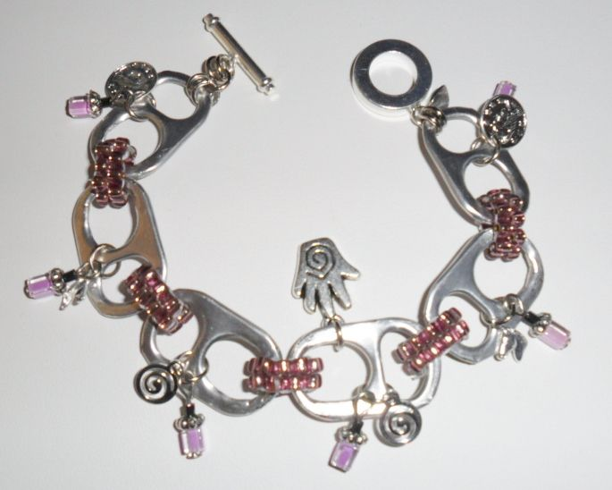 pinterest soda can crafts | charm bracelet using soda can tabs.. | crafts from recycled or repu...