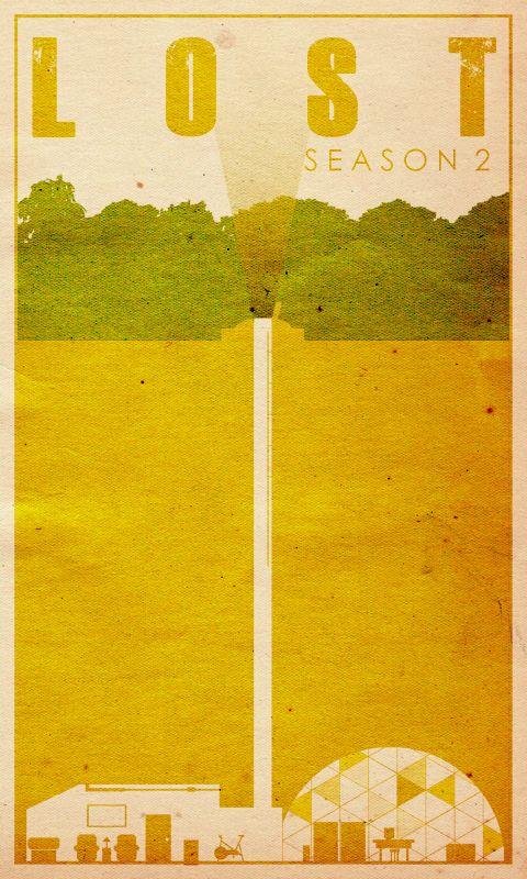 Lost Season 2 - Minimal TV Poster by Travis English #minimaltvposters #alternativetvposters #travisenglish