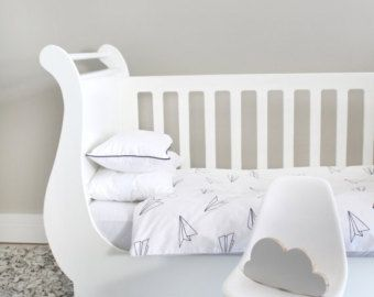 Baby Bedding  Cotton Duvet Cover  Cot Duvet Neutral by kiderooSA