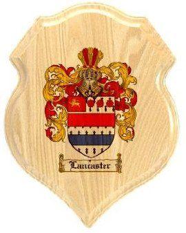 $34.99 Lancaster Coat of Arms Plaque / Family Crest Plaque