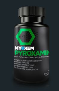 PYROXAMINE will give you: Amazing levels of alertness without feeling jittery Sharp mental focus Stronger muscle contractions Enhanced neurotransmission Increased bioavailability of nutrients Appetite suppression Efficient metabolism  http://myokem.com/pyroxamine/