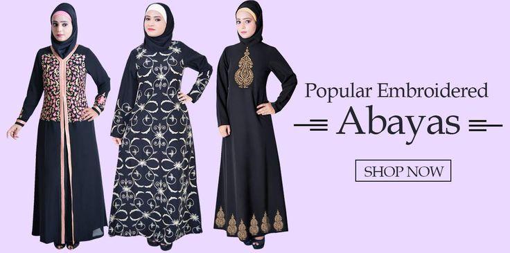 Popular Embroidered Abaya - zetzone.com Shop Now » https://www.zetzone.com/abaya #Abaya #PopularAbaya #IslamicClothing #ModestAbaya #IslamicShop #MuslimShop #EmbroideredAbaya #EidAbaya #BlackAbaya