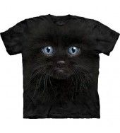 Black Kitten Face T Shirt - by the Mountain