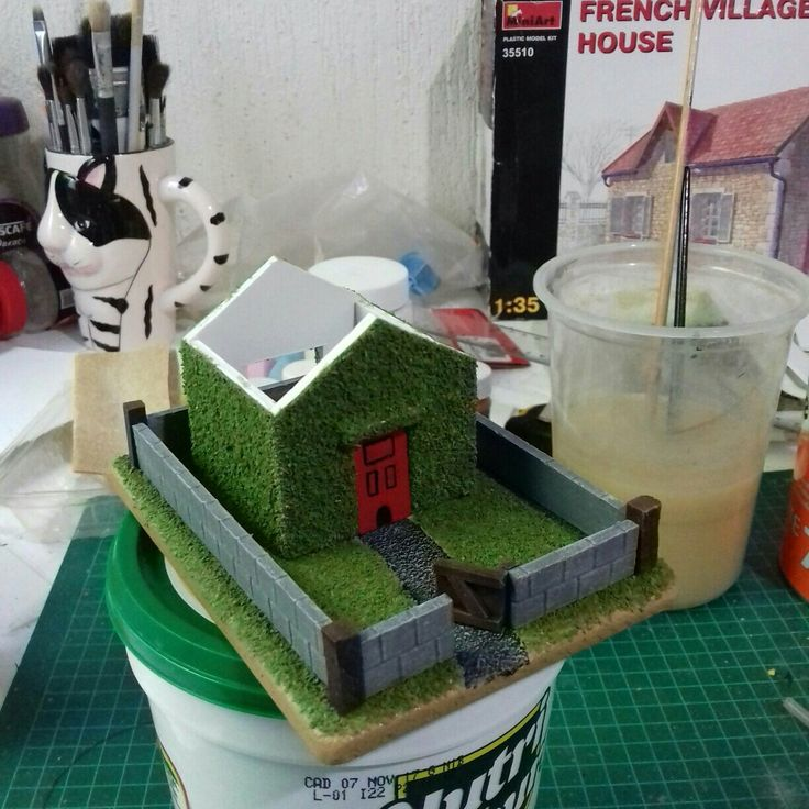 Building a little fantasy house for a Christmas present. It is slowly looking the part.