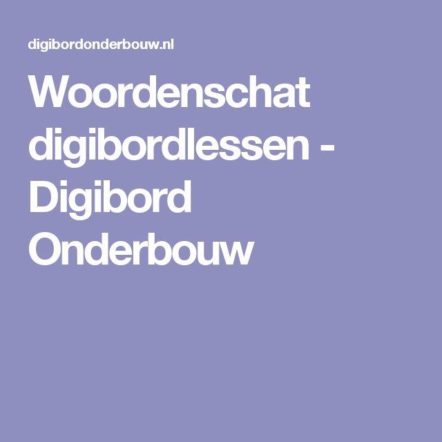 Woordenschat digibordlessen - Digibord Onderbouw