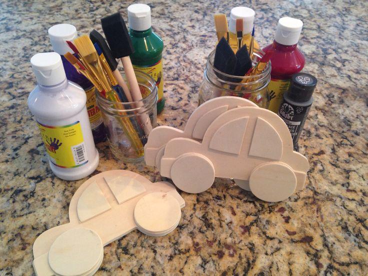 Paint Caleb's Car Caleb and Sophia Party activity