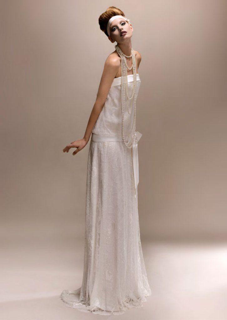 Vintage Wedding Dresses 1920s Lace