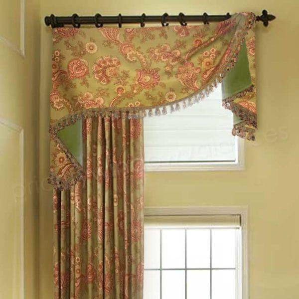 Flat Swag Custom Valance On Rings 700 Fabrics Or Yours Valance Window Treatments Custom Window Treatments