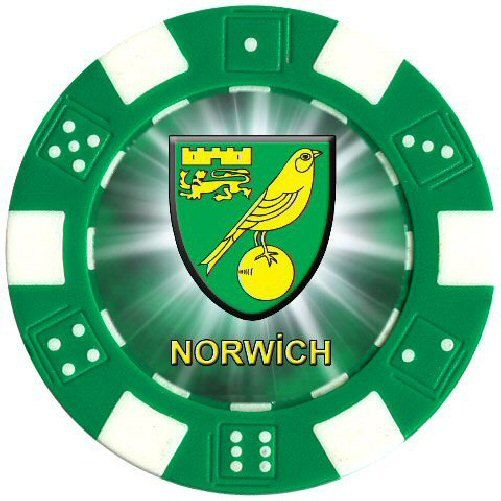 Norwich Football Club Poker Card Protector Custom by CustomChips
