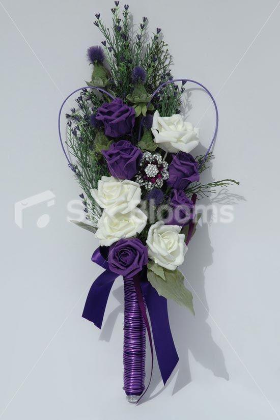 scottish wedding bouquets   Traditional Scottish Tartan Overarm Wedding Bouquet   eBay