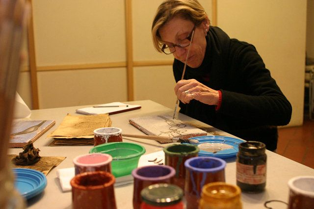 Dipingere in fresco tra '400 e '500 con la stessa tecnica utilizzata dai pittori fiorentini del Rinascimento e portare a casa il piccolo affresco realizzato.