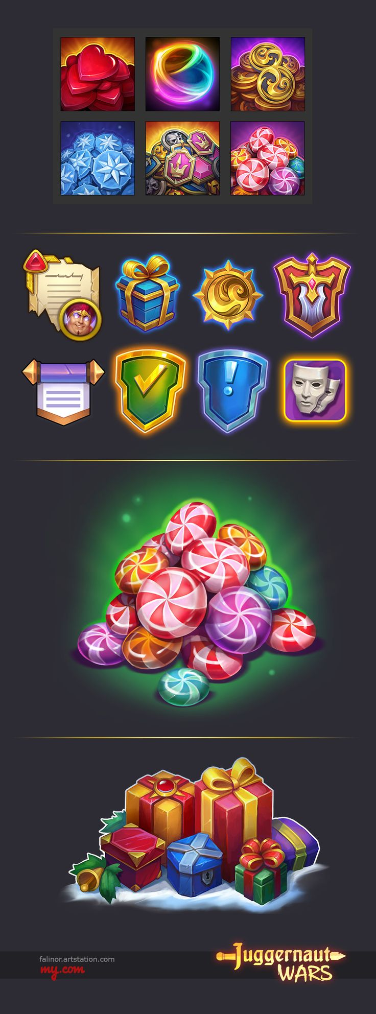 ArtStation - UI elements, Julia Titova
