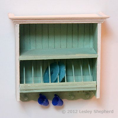 Make an Above the Sink Cabinet with a Plate Rack for a Dollhouse Kitchen