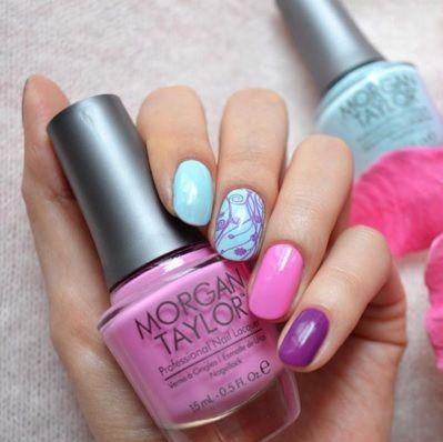 Pastel Nails using Morgan Taylor nail lacquer available at Louella Belle #MorganTaylor #Pastels #PastelNails #NailArt #Nails #Manicure #LouellaBelle