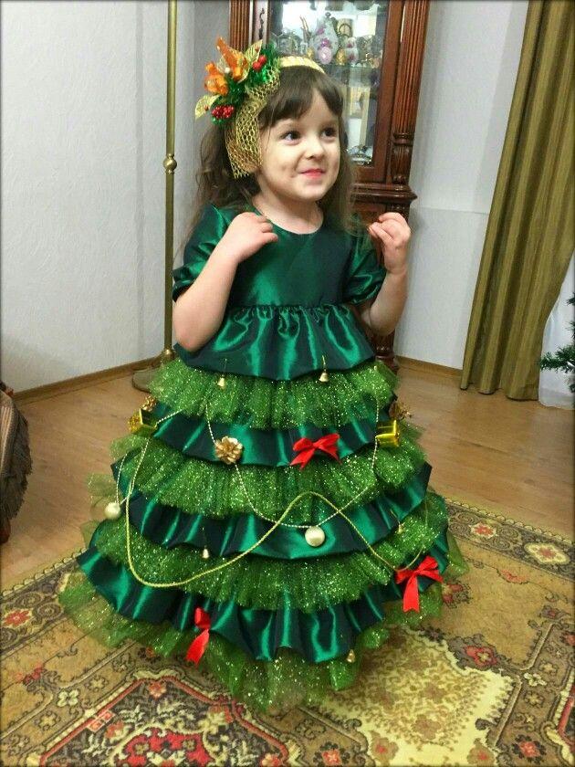 """Маскарадное платье """"Елочка"""""""