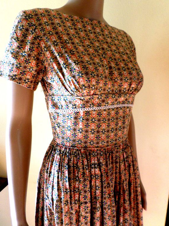 Vintage 1950's Cotton Country Calico Rockabilly by Joiedeglam