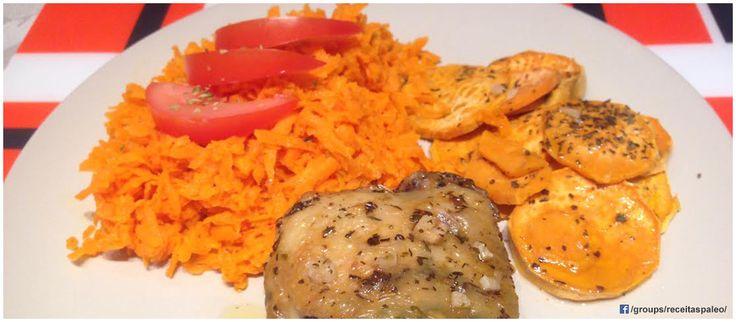 Coxas de frango no forno com batata doce | Receitas Paleo