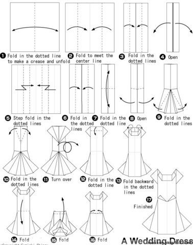 Origami money dress
