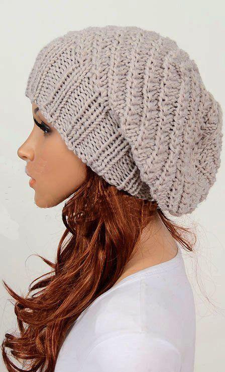 Slouchy hat | Crochet hat