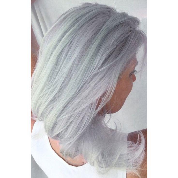 Silver pale blue pastel hair colour by Marije @ Salon B, Almere