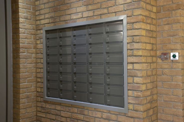 Fire rated mailboxes fitted in the Waterside Project.