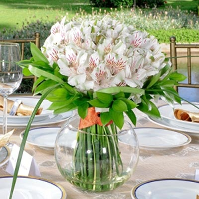 Costco - White Alstroemeria Wedding Collection. I think I like these more than roses!