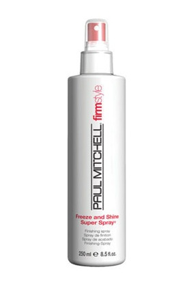 Luxury beauty product for hair - Paul Mitchell Freeze and Shine Super Spray.