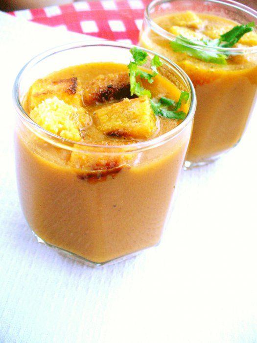 Острый морковный суп-пюре - кулинарный рецепт