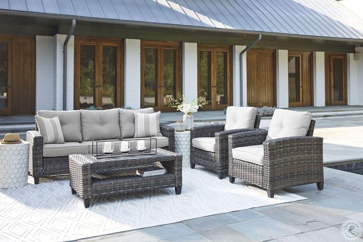 Beachcroft Beige Outdoor Sofa with Cushion in 2020 ... on Beachcroft Beige Outdoor Living Room Set id=21147