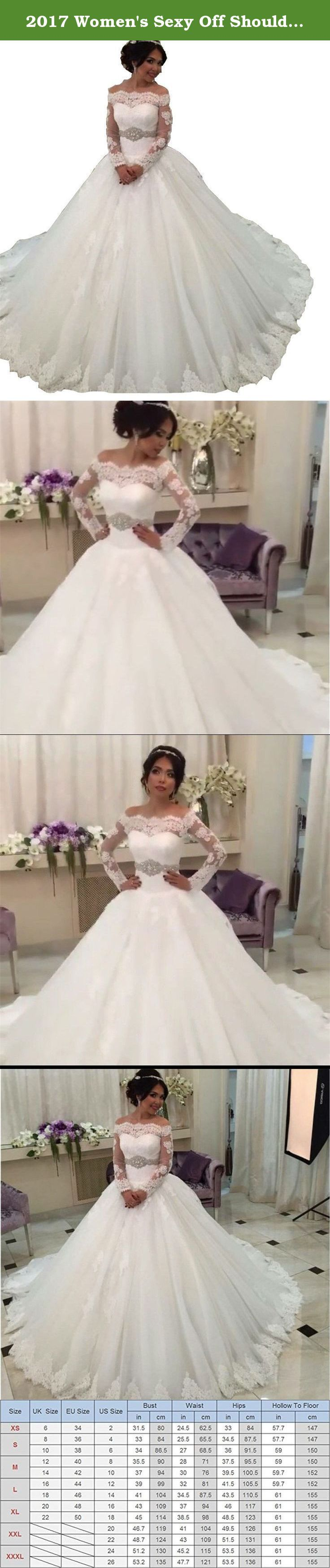 "2017 Women's Sexy Off Shoulder Long Sleeve Plus Size Wedding Dresses Ivory US20 Size. Welcome to Veiai, we're a professional manufacturer and seller of wedding dresses. We offer high quality dresses to our customers. The real color of the item may be slightly different from the pictures shown on website caused by many factors such as Computer screen brightness?Wish understand,Thanks:)! Please Use The Size Chart Image on the Left . Do not use Amazon's ""Size Chart""link . Item Description..."