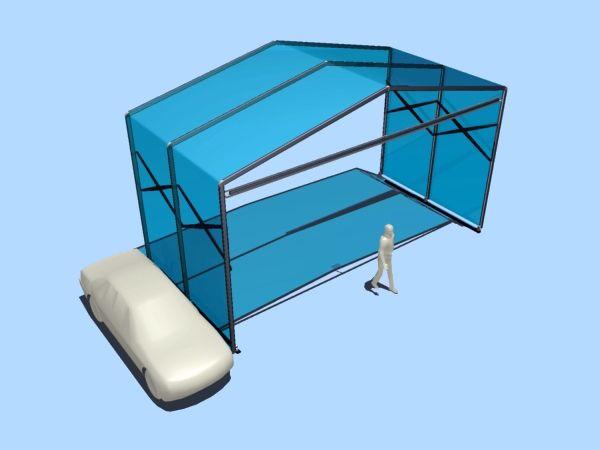 Abribox - Abribox Maxi - Socotex : fabricant abris, architecture textile, bâches, parasols, tentes de réception, barnums, chapiteaux, équipements de terrasse, structure textile, auvents, confection, tentes pliables, stand