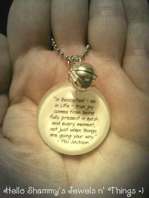 Phil Jackson BASKETBALL Quote Necklace. In by HelloShammys on Etsy