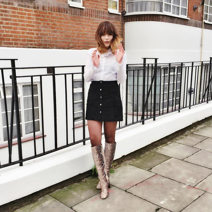 «Feeling like a super sixties sass pot in my new snakey boots  Skirt Code: 709990 Boots Code: 709738»