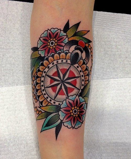 traditional compass tattoo - Google Search