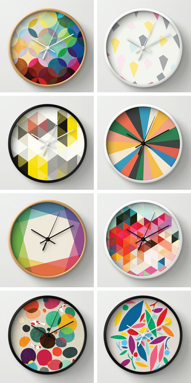 Tell Time Better with Fresh Clocks From Society6