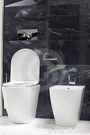 Photo of a new toilet WC and bidet