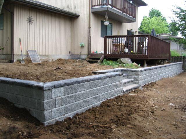 retaining wall surcharge #retainingwall   Great Garden