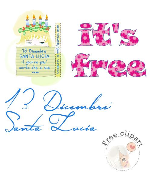 Buon onomastico a me ed a tutte le Lucia! http://graficscribbles.blogspot.it/2014/12/buon-onomastico-me-ed-tutte-le-lucia.html
